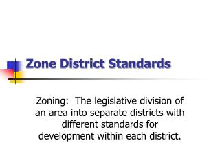 Zone District Standards