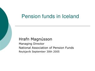 Pension funds in Iceland
