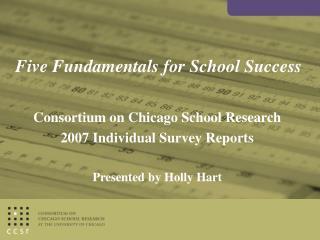 Five Fundamentals for School Success