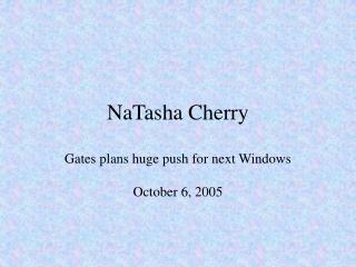 NaTasha Cherry