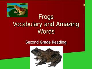 Frogs Vocabulary and Amazing Words