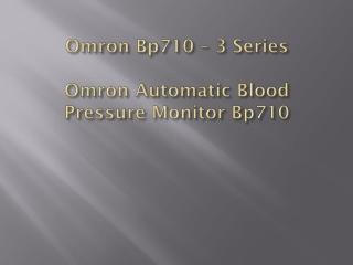 Omron Bp710 – 3 Series