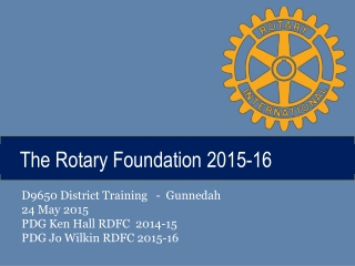 ROTARY AMBASSADORIAL SCHOLARSHIPS  INFORMATION  INSTRUCTIONS HANDBOOK