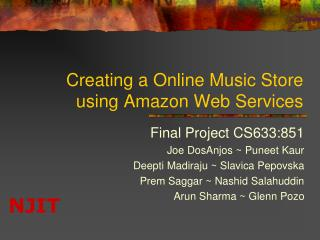 Creating a Online Music Store using Amazon Web Services