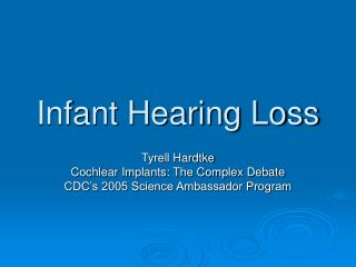 Infant Hearing Loss