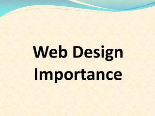 Web Design Importance