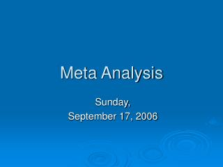 Meta Analysis