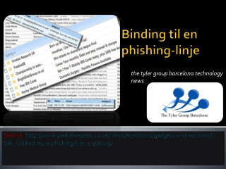 Binding til en phishing-linje | the tyler group barcelona te