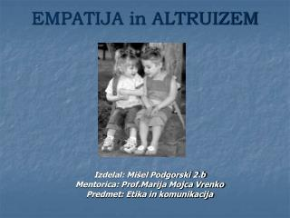 EMPATIJA in ALTRUIZEM