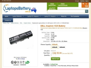 Facts About the Dell Inspiron 1525 Laptop Battery