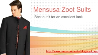 Mensusa Zoot Suits