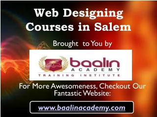 Web Designing Courses in Salem