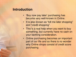 Enjoy Online shopping on credit