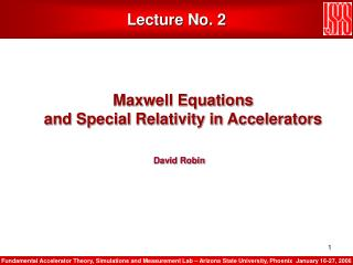 Review of Classical Physics Special Relativity and Maxwell