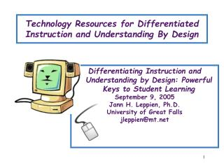 Technology Resources for Differentiated Instruction and Understanding By Design