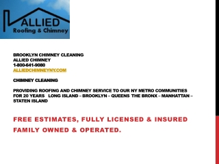 Brooklyn Chimney Cleaning, Allied Chimney