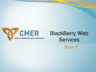 BlackBerry Web Services