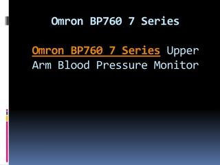 Omron BP760 7 Series