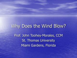 Why Does the Wind Blow?