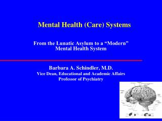 Mental Health (Care) Systems