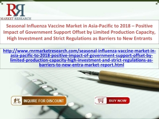 Seasonal Influenza Vaccine Market in Asia-Pacific 2018