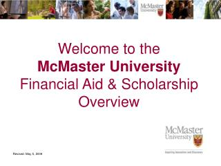 Welcome to the  McMaster University Financial Aid & Scholarship Overview