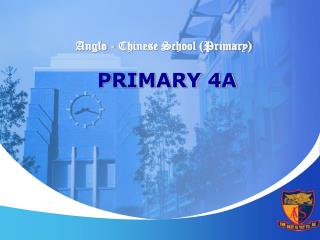 Anglo - Chinese School (Primary) PRIMARY 4A