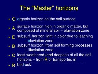 """The """"Master"""" horizons"""