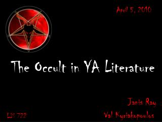 The Occult in YA Literature