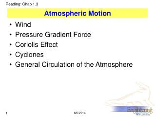 Atmospheric Motion