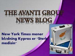 """New York Times mener blødning Kypros er """"Sterk medisin"""""""