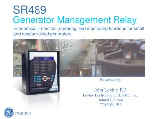 SR489 Generator Management Relay