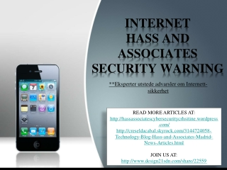 internet hass and associates security warning, Phishing og s