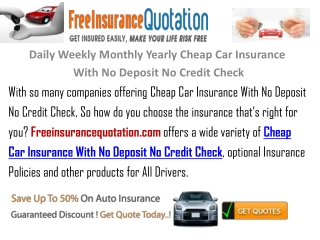Daily Weekly Monthly Yearly Cheap Car Insurance