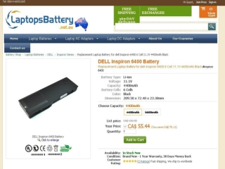 Dell Inspiron 6400 Battery Offers Huge Capacity for Your Lap