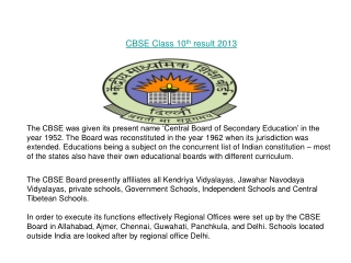 CBSE 10th Result 2013
