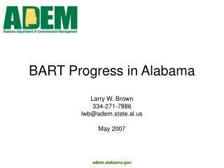 BART Progress in Alabama