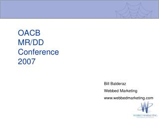OACB MR/DD  Conference 2007