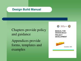 Design Build Manual