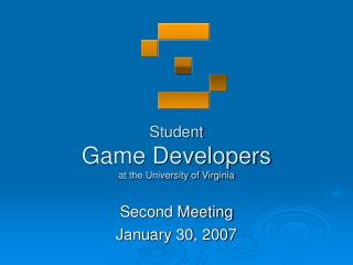 Student Game Developers at the University of Virginia