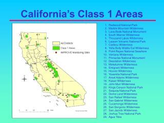 California�s Class 1 Areas