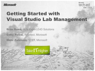 Getting Started with Visual Studio Lab Management