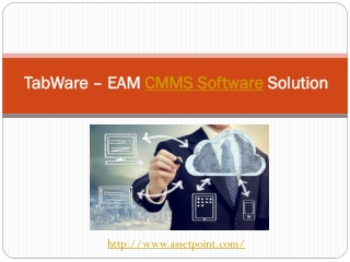 TabWare – EAM CMMS Software Solution