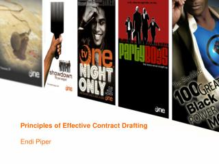 Principles of Effective Contract Drafting Endi Piper