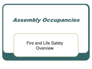 Assembly Occupancies