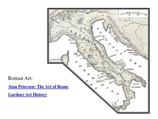 Roman Art: Alan Petersen: The Art of  Rome Gardner Art History