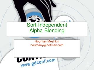 Sort-Independent Alpha Blending