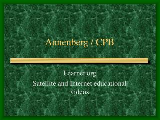 Annenberg / CPB
