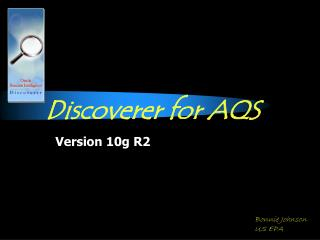 Discoverer for AQS
