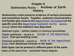 Chapter 6 Sedimentary Rocks   Archives of Earth History